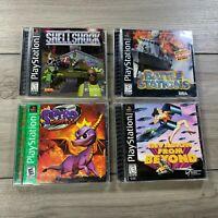 Sony PlayStation 1 Video Game PS1 Bundle Spyro 2 Shellshock Battle *Lot of 4
