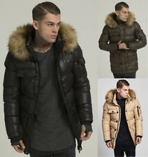 Polyester Hooded Puffer Long Coats & Jackets for Men