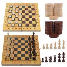 Schach- Backgammon- Dame-Kassette - 3 in1 Spiel Schach Backgammon Dame DE
