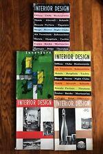 1955/1956 INTERIOR DESIGN Magazine 5 Issues Knoll Eames Herman Miller Mid Modern