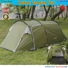 3-4 Persons/Man Family Tunnel Tent Outdoor Hiking Camping Beach Festival Shelter