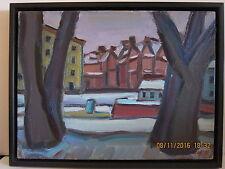 "Oil painting by Boris Borshch Belorussian/Russian, framed. ""Kronverksky strait""."