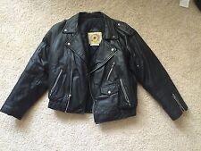 Vintage 1970s Motorcycle Leather Jacket Coat Size 12 harley punk metal womens
