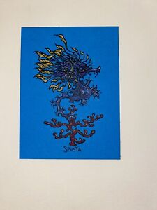 Marq Spusta Art Print New Mini Blue Paper Lure Silkscreen Limited Edtn UV Ink