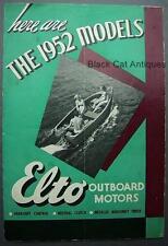 Original Vintage Elto Outboard Motors 1952 Models Dealer Brochure/Booklet