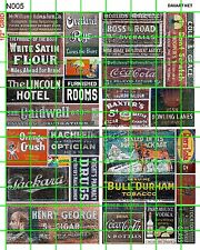 N005 DAVE'S DECALS N SCAL OLD GHOST SIGNS ADVERTISING BULL DURHAM PACKARD CIGARS