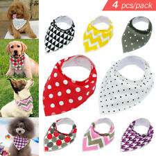 4pcs/lot Soft Bandana Dog Collars Pet Cat Puppy Scarf Neckerchief Adjustable