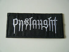 ONSLAUGHT PATCH Embroidered Iron On Heavy Thrash Metal Logo Badge Black NEW