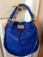 Brand NWT Auth Leather Marc Jacobs Classic Q Hillier, Meteorite/Dark RoyalBlue!