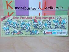 BPZ  Die Fussballschlümpfe  D 1988 BPZ dünnes Papier