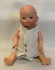 """Antique 1924 German Bisque/Composition Baby Doll 8"""" Tall, Marked 15/0"""