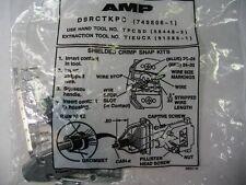 AMP D9RCTKPC 749806-1 Shielded crimp snap kits 9 pin sub D female lot of 5
