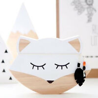 Nordic Style Lovely Wooden Fox Kids Room Nursery Home Decoration Photo Props