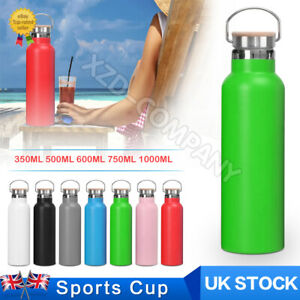 Stainless Steel Gym Sports Water Bottle Double-Wall Insulated Vacuum Metal Flask