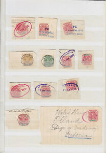 SOUTH AFRICA TRANSVAAL 1900, ANGLO - BOER WAR, 11 PIECES + 2 LETTER, CANCELS!