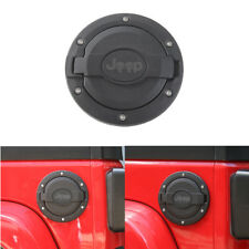 Black Fuel Filler Door Cover Gas Tank Cap for 2007-2017 Jeep Wrangler JK