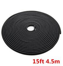 15ft Black Car Door Edge Guard Trim Molding Protector Strip Rubber Seal U Shape