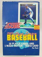 Two 1989 SCORE Major League Baseball Card Boxes Factory
