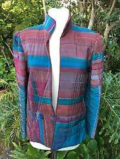 Jane thorpe Art To Wear Hand Painted Silk 80's Jacket Avant Garde Boho Moderne