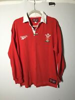 Vintage 1997 Wales Rugby Jersey Long Sleeve Shirt Size XL Reebok Mens
