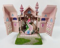 Vintage Disney Princess Opening Musical Castle Resin Snow Globe VERY RARE