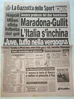 GAZZETTA DELLO SPORT 8-2-1988 NAPOLI-PISA 2-1 PESCARA-JUVENTUS 2-0 MILAN-CESENA