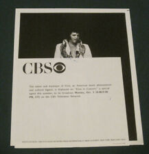 Elvis Presley 9 x 7 B/W CBS Press Photo Elvis In Concert 1970's Original