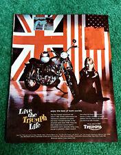 ORIGINAL 1968 TRIUMPH MOTORCYCLE MAGAZINE AD TROPHY-650 TR6C BRITISH POSTER?