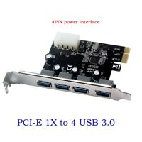 4 Port PCI-E to USB 3.0 HUB PCI Express Expansion Card Adapter 5.0 Gbps Speed