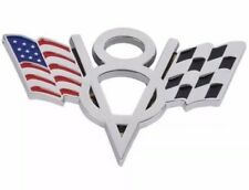 V8 USA American Flag Badge Pickup Boot Sticker Car For Chevy Chrysler Ford Dodge