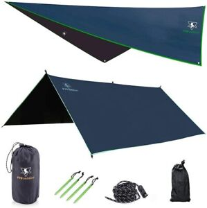 pys Hammock Rain Fly Waterproof Tent Camping Backpacking Survival Shelter Set