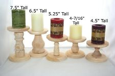 Smaller Unfinished Wooden Pillar Candlestick Holders Candlestick Holders