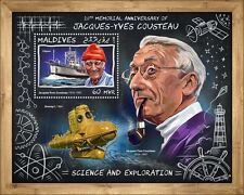 Maldives 2017 Jacques-Yves Cousteau 20th Aniv Submarine S/S MLD17705