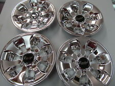 "GOLF CART Limited Edition Chrome Hub Cap 8"" Wheel New Set of 4 Caps Covers H16LE"