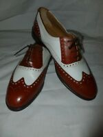 RUSSELL AND BROMLEY  BOND STREET LONDON TWO TONE BROGUE LACE UP SHOES  UK 8