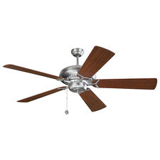 "Monte Carlo 60"" Contemporary Ceiling Fan Grand Prix Pull Chain Steel Mahogany"
