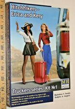 """Master Box """"Hitchhikers - Erica and Kery """"  1/24 model kit USA"""