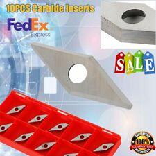 10pcs Cutting Insert Carbide Blades InsertsDiamond Shape f/ woodworking tool Usa