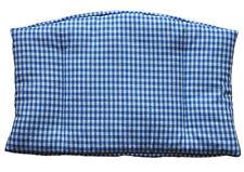 1tlg Sitzkissen blau kariert für Tripp Trapp/ST Treppenhochstuhl