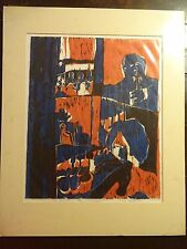 """Carole Sue Lebbin Woodblock Print """"FOR EVERYTHING THERE IS A SEASON""""#5/5 '71"""