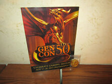 Games & Gear Gen Con 50 commemorative Collector Gold Coin w/ Program Guide