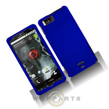 Motorola MB810 Droid X/X2 Shield Blue Rubberized Case Cover Shell Protector