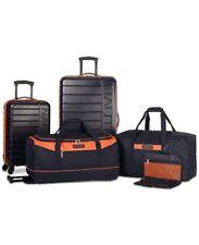 $500 New Nautica Sea Tide 5-Piece Hardside Luggage Set Blue Orange Travel Bag