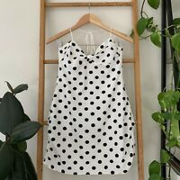 For Love and Lemons Womens White Polka Dot Backless Ruched Mini Dress Size M