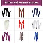 Unisex Braces Men Women Elastic Y-back Adjustable Suspenders Clip-on Braces 35mm