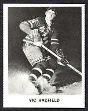 1965 COCA-COLA COKE VIC HADFIELD N-MINT NEW YORK N Y RANGERS  HOCKEY CARD