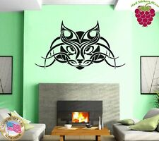 Wall Stickers Vinyl Decal Cat Pet Animal Tribal Tattoo Lynx ig757