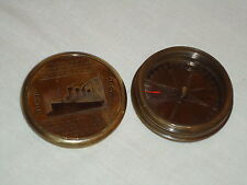 Titanic Pocket Compass in Antique Brass With pic Of Titanic And Lots Of Info