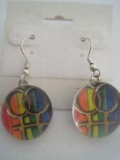 Gay Pride Flag Lesbian Glass Bubble Earrings
