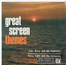 "John Barry Percy Faith - Great Screen Themes 7"" Ep 1965"